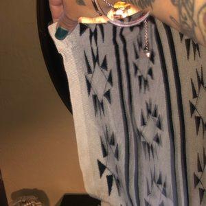 Accessories - Tribal Knit Wrap w/ Arm Holes